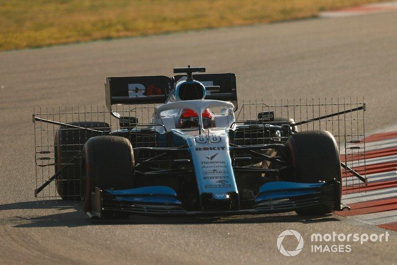 Robert Kubica, Williams FW42, con sensores aerodinámicos