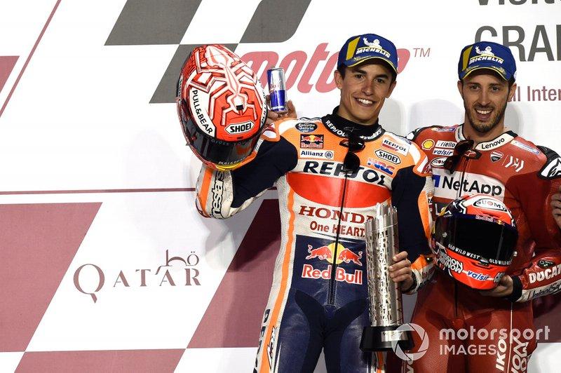 Podio: Marc Marquez, Repsol Honda Team, Andrea Dovizioso, Ducati Team
