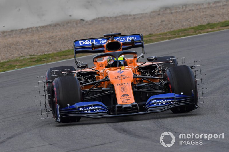 Lando Norris, McLaren MCL34 with aero sensors