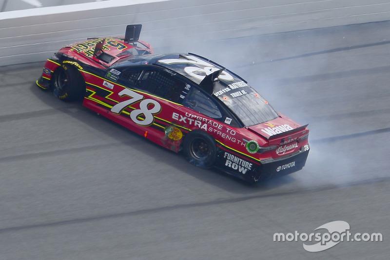 Martin Truex Jr., Furniture Row Racing Toyota Crash