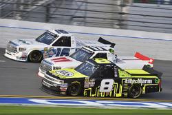 John Hunter Nemechek, SWM-NEMCO Motorsports Chevrolet, Timothy Peters, Red Horse Racing Toyota and Ryan Truex, Toyota
