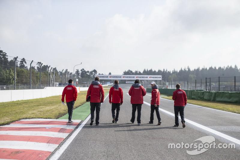 Jamie Green, Audi Sport Team Rosberg, Audi RS 5 DTM during gridwalk