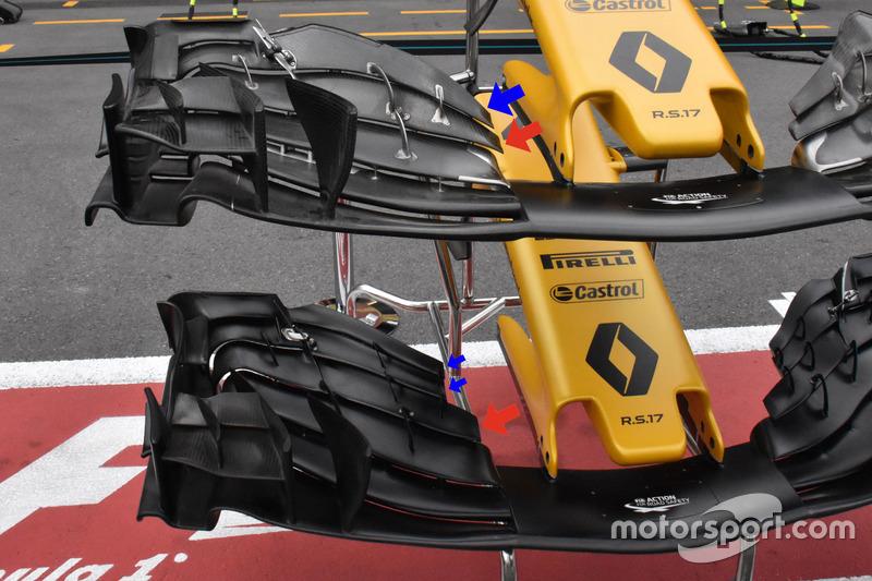 Ailerons avant de la Renault Sport F1 Team RS17