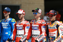 Алекс Рінс, Team Suzuki MotoGP, Андреа Довіціозо, Ducati Team, Хорхе Лоренсо, Ducati Team, Марк Маркес, Repsol Honda Team