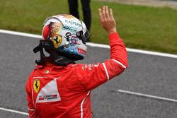 Sebastian Vettel, Ferrari dans le Parc Fermé