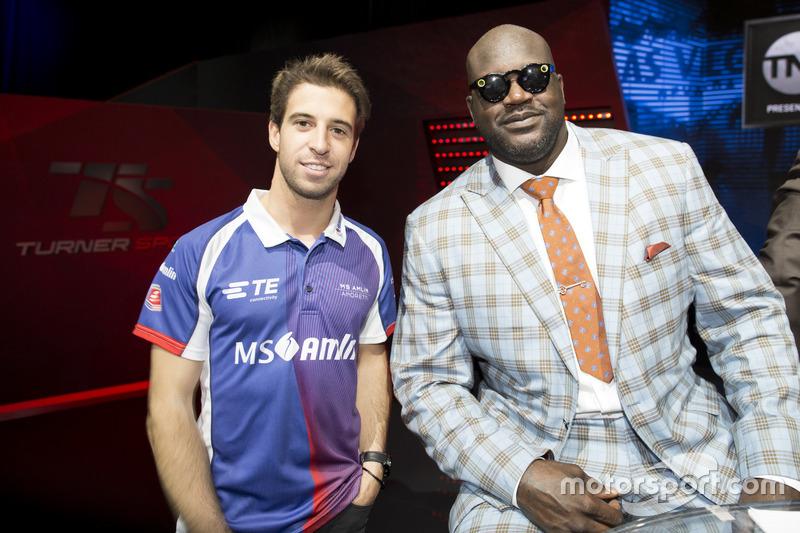 Antonio Felix da Costa, Amlin Andretti Formula E Team, con la leyenda del baloncesto Shaquille O'Ne