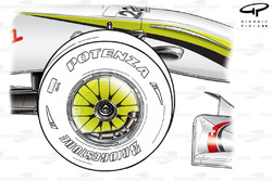 Brawn BGP 001 2009 front wheel rim cover