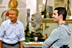 In September, 2016 Indianapolis 500 winner Alexander Rossi visited sculptor Will Behrends in Tryon,