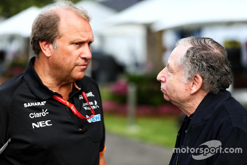 Robert Fernley, Sahara Force India F1 Teamchef mit Jean Todt, FIA Präsident