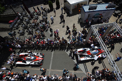 #7 Toyota Gazoo Racing Toyota TS050 Hybrid: Mike Conway, Kamui Kobayashi, Stéphane Sarrazin, #8 Toyota Gazoo Racing Toyota TS050 Hybrid: Anthony Davidson, Sébastien Buemi, Kazuki Nakajima