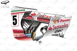 Ferrari SF70H rear wing and monkey seat, Italian GP