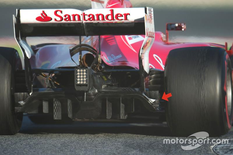 Diffuseur de la Ferrari SF70H