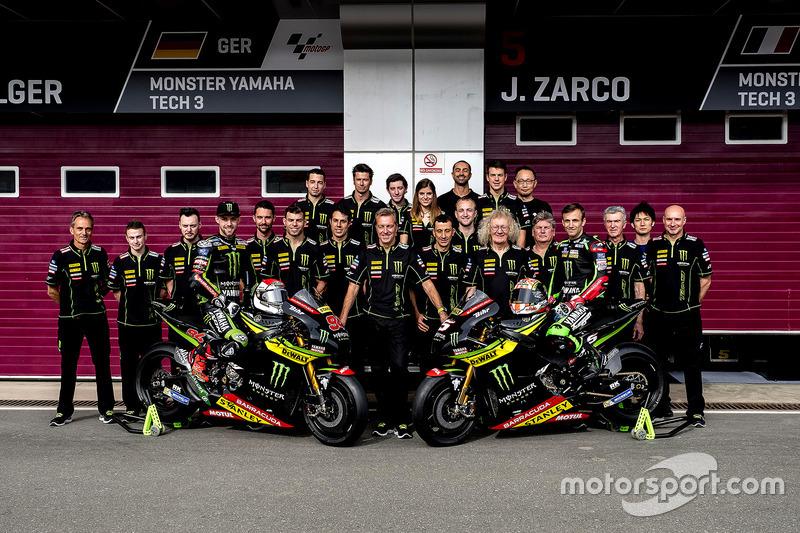 Jonas Folger, Monster Yamaha Tech 3; Johann Zarco, Monster Yamaha Tech 3, Team photo
