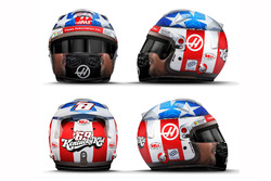 Nicky Hayden tribut helmet of Romain Grosjean