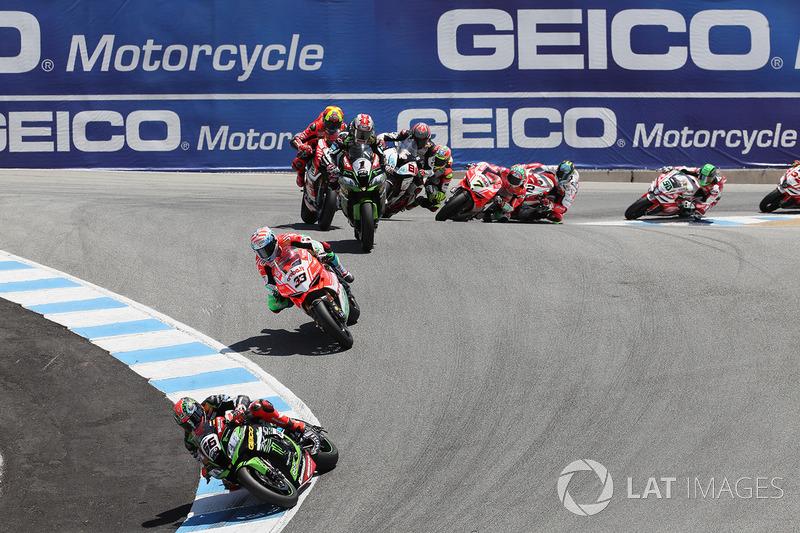 Том Сайкс, Kawasaki Racing, Марко Меландрі, Ducati Team, Джонатан Рей, Kawasaki Racing
