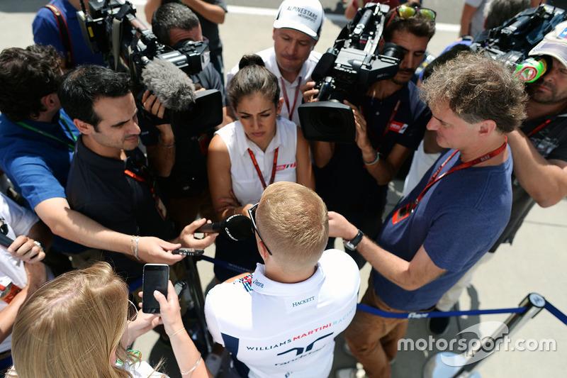Valtteri Bottas, Williams with the media