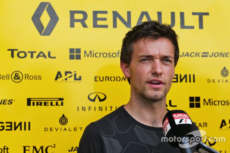 Jolyon Palmer, Renault Sport F1 Team im Gesräch mit der Presse