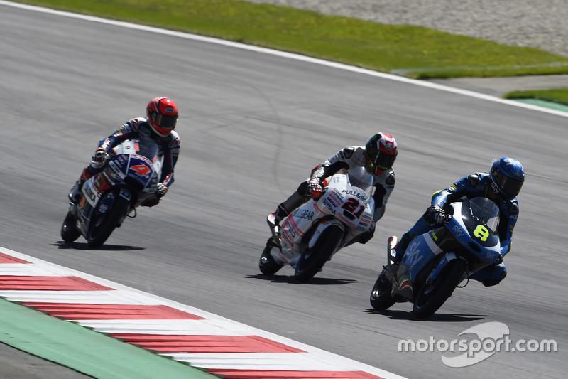 Nicolo Bulega, SKY Racing Team VR46, KTM; Francesco Bagnaia, Aspar Team Mahindra, Mahindra; Fabio Di Giannantonio, Gresini Racing Moto3, Honda