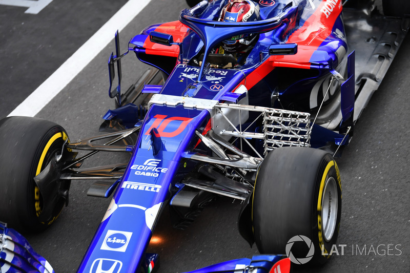 Pierre Gasly, Scuderia Toro Rosso STR13 con sensor aerodinámico