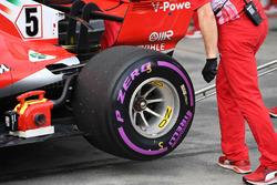 Ferrari SF-71H rear wheel and Pirelli tyre
