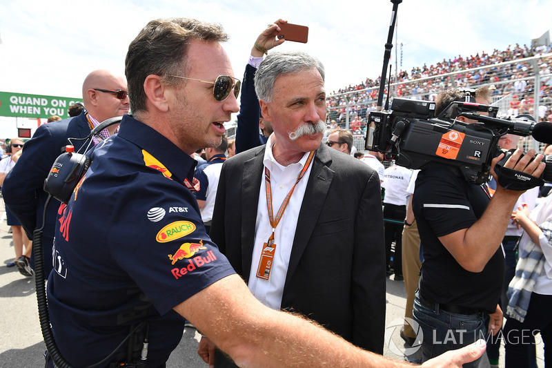 Christian Horner, Team Principal Red Bull Racing e Chase Carey, Chief Executive Officer ed Executive Chairman, Formula One Group
