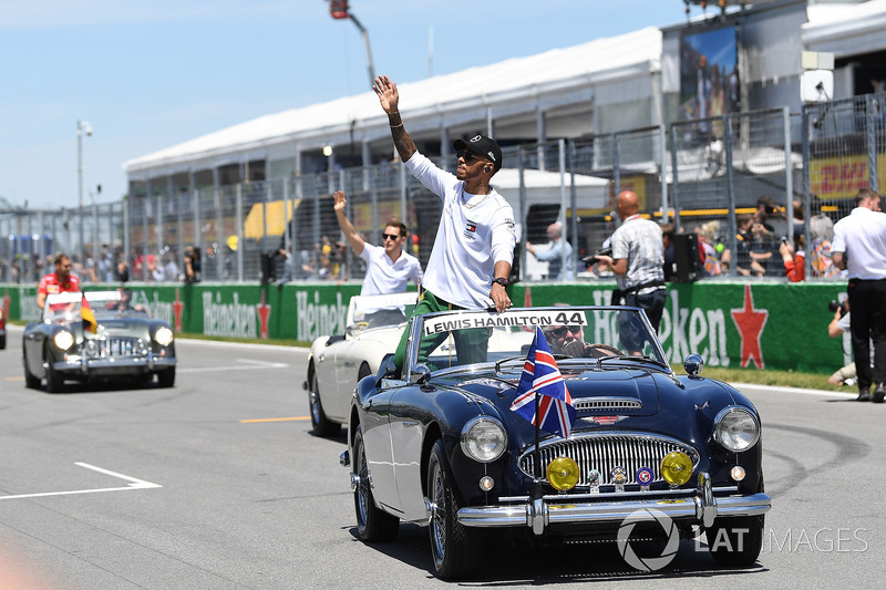 Lewis Hamilton, Mercedes-AMG F1 on the drivers parade