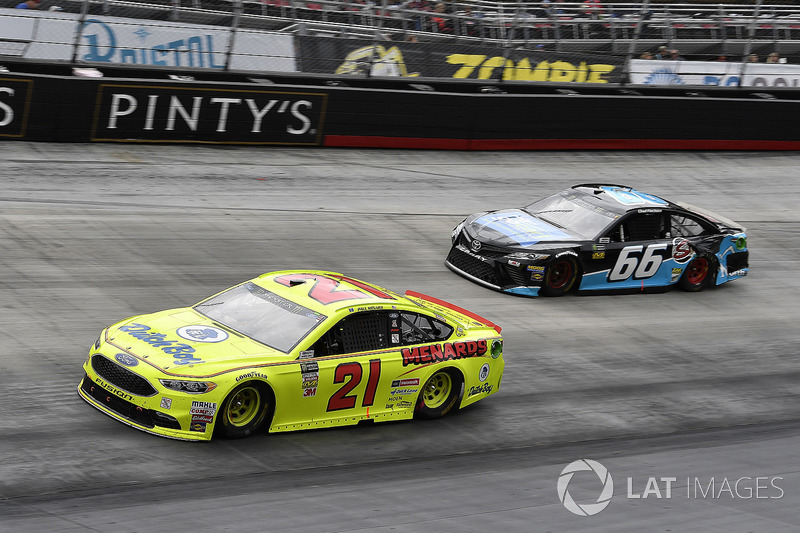 Paul Menard, Wood Brothers Racing, Ford Fusion Menards / Dutch Boy and Chad Finchum, Motorsports Business Management, Toyota Camry, Concrete North / Smithbuilt Homes