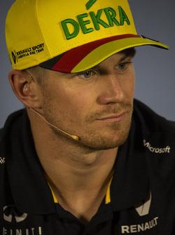 Nico Hulkenberg, Renault Sport F1 Team, en rueda de prensa