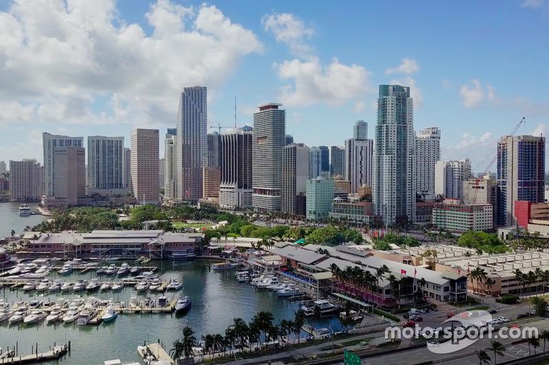 Вид на предполагаемую трассу Ф1 в Майями