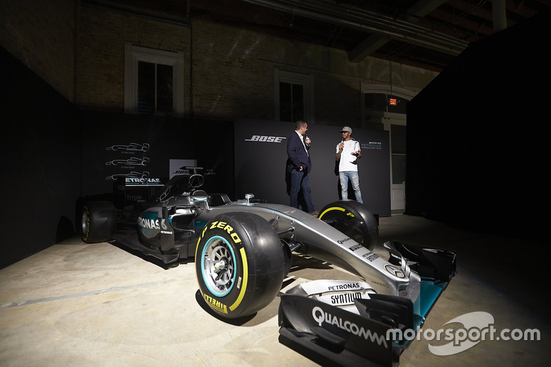 Lewis Hamilton, Mercedes AMG F1 at the Bose F1 Garage Experience