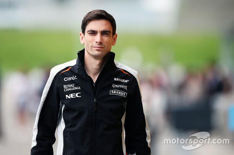 Tim Wright, Sahara Force India F1 Team Race Engineer