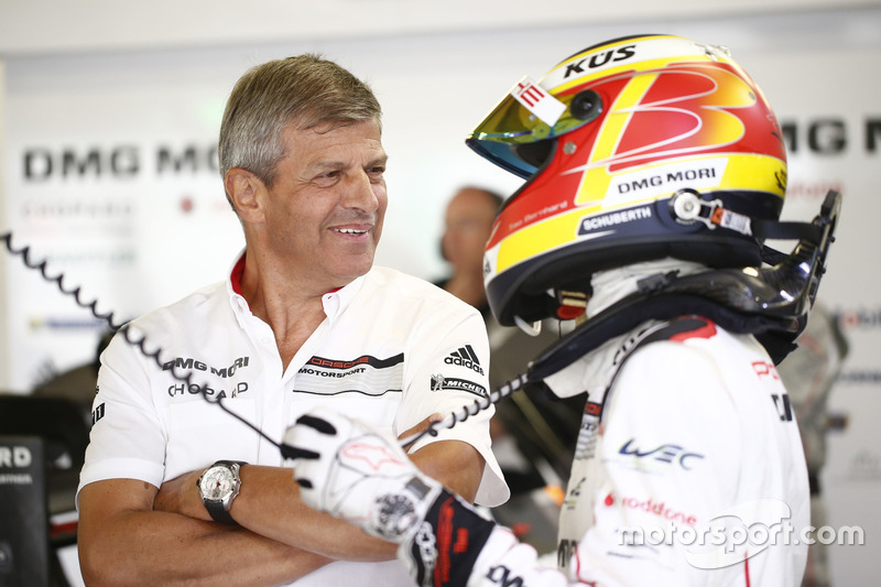 Porsche Team: Fritz Enzinger, Vice President LMP1; #1 Porsche Team Porsche 919 Hybrid: Timo Bernhard