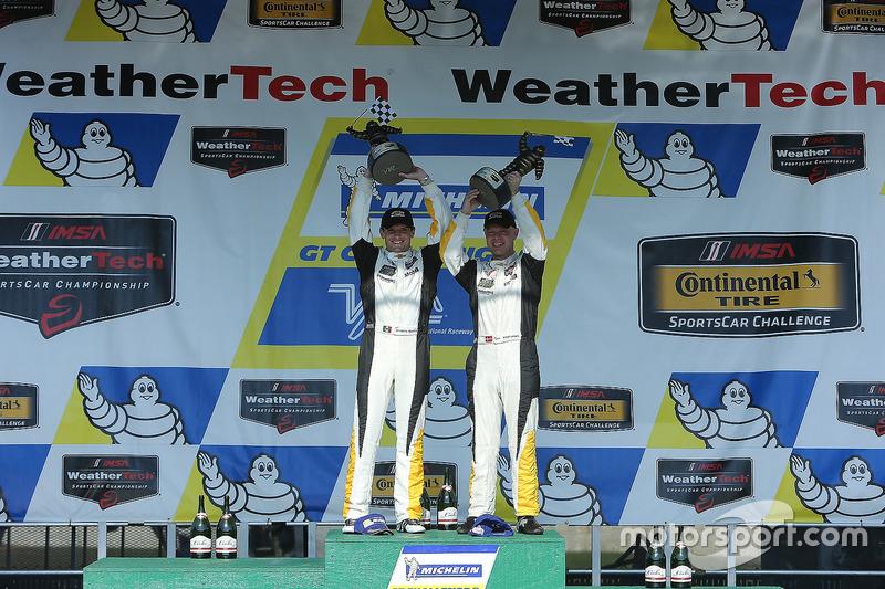 Race winners Antonio Garcia, Jan Magnussen, Corvette Racing