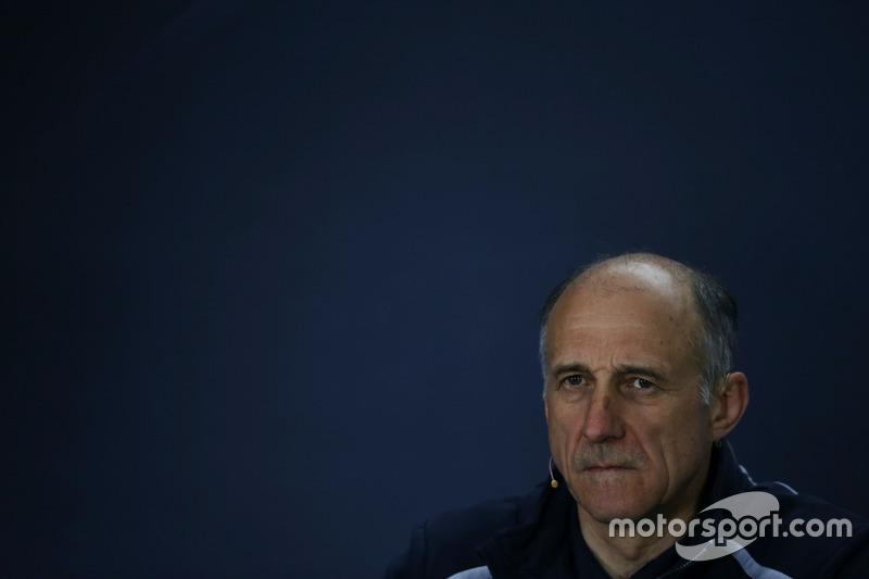 Franz Tost, Scuderia Toro Rosso Team Principal in the FIA Press Conference
