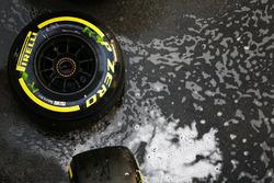 Pirelli tyre in the paddock