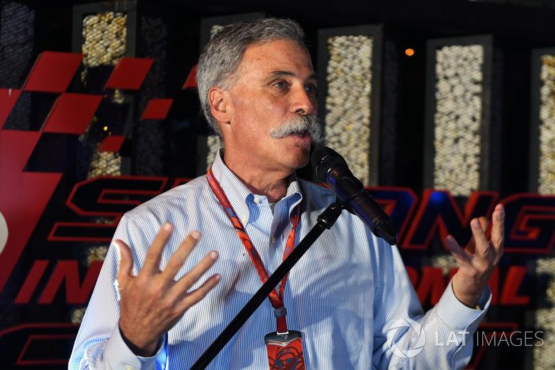 Чейз Кері, голова групи Формули 1 на барбекю у Петронас