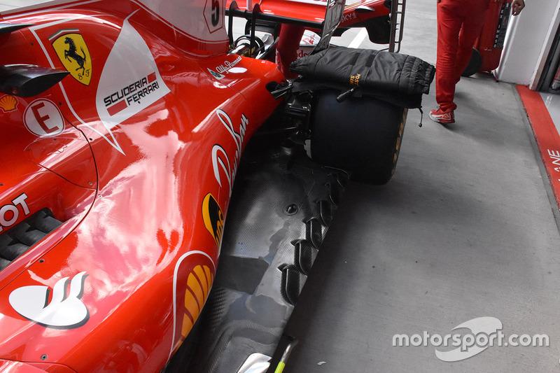Ferrari SF70-H vloer detail