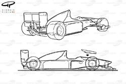 Benetton B192 1992 schematic overviews