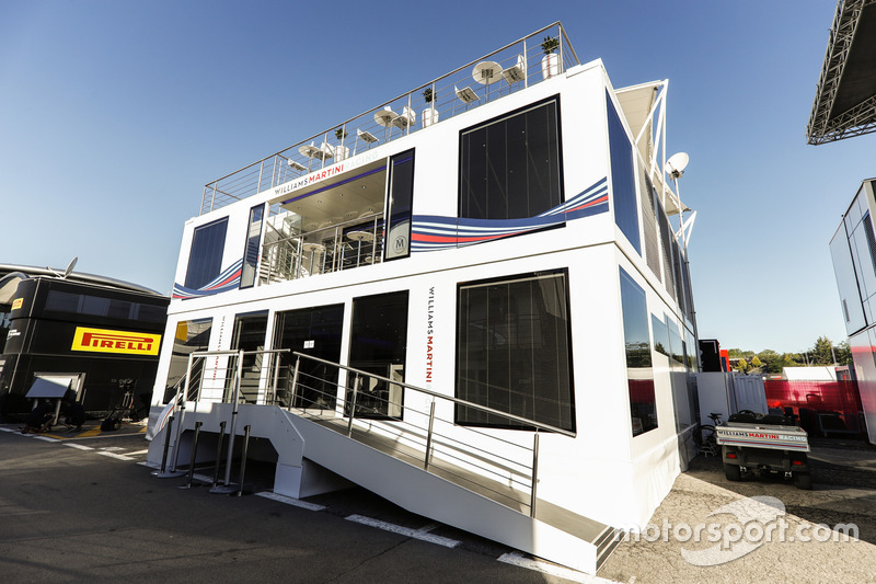 The Williams motorhome in the Paddock