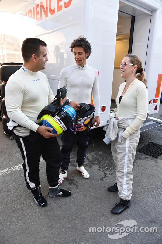 Пилоты двухместного автомобиля F1 Experiences Жолт Баумгартнер и Патрик Фризахер
