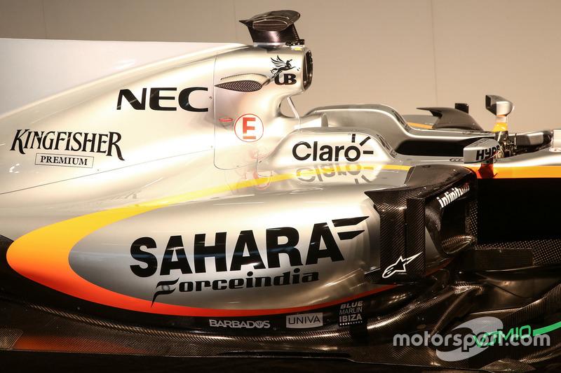 Force India VJM10: Seitenkasten