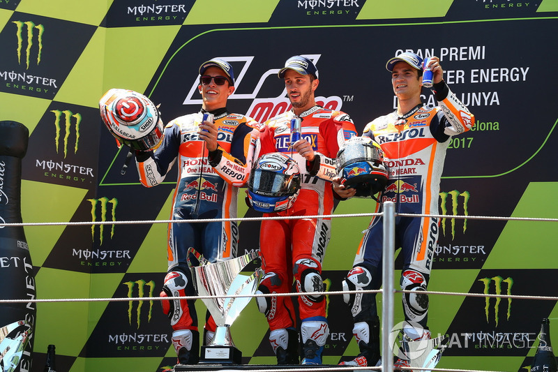 Podium: second placde Marc Marquez, Repsol Honda Team, Race winner Andrea Dovizioso, Ducati Team, th
