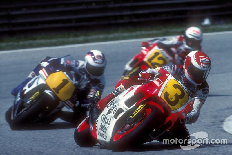 Eddie Lawson, Yamaha; Wayne Gardner, Honda