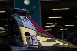 Detalle del auto de Esteban Gutiérrez, Techeeta Team