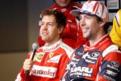 Sebastian Vettel and Travis Pastrana