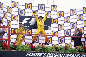 1. Damon Hill, Jordan, 2. Ralf Schumacher, Jordan
