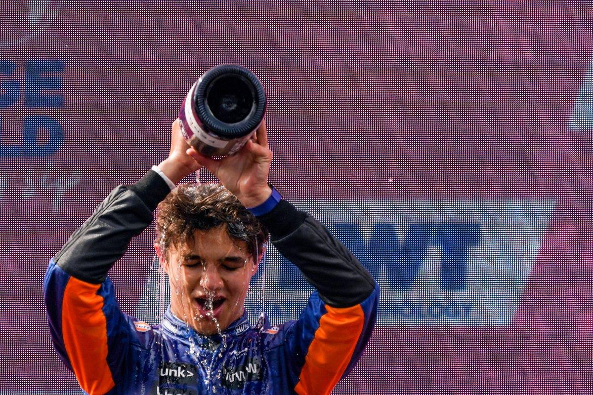 Podium: third place Lando Norris, McLaren