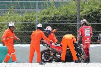 Danilo Petrucci, Ducati Team after crash