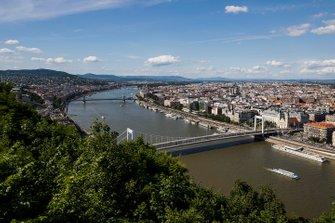 Une vue de Budapest depuis la Citadelle