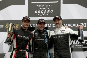 Podio: Ganador de la carrera Frédéric Vervisch, Audi Sport Team Comtoyou Audi RS 3 LMS, segundo Timo Scheider, ALL-INKL.COM Münnich Motorsport Honda Civic Type R TCR, tercero Yvan Muller, YMR Hyundai i30 N TCR